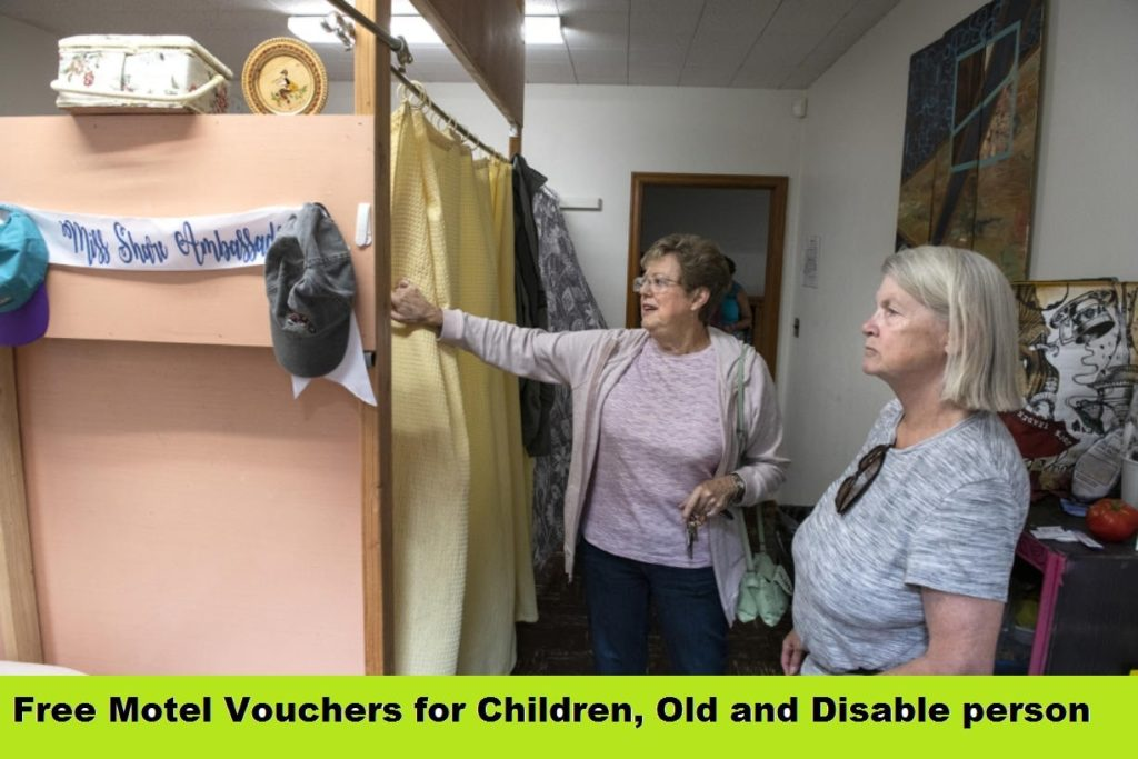 Free Motel Vouchers for Children, Old and Disable person